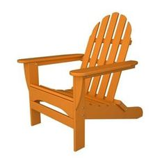 PolyWood Adirondack Chair. Folds flat for easy transportation and storage.