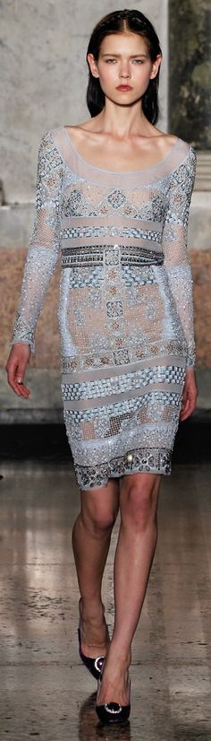 #Pucci Fall/Winter 2012-2013  #Fashion #New #Nice #SparkleDress #2dayslook  www.2dayslook.com