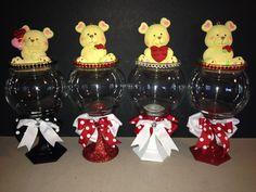 Valentines candy jars