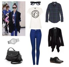Outfit inspired by SNSD's Jessica, Airport Fashion