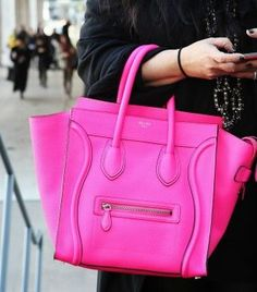 Celine in electric pink!