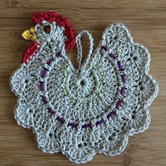 Chicken potholder free pattern: