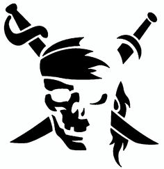 Pirate Skull Vinyl Car Pirate and Swords Decal, Laptop Decal, Car Window Sticker, Boat Pirate Skull Pumpkin Carving Pattern – Pirates of the Caribbean Logo Pirate Pumpkin, Skull Pumpkin, Pumpkin Stencil, Logo Pirate, Stencil Art, Stencils, Skull Stencil, Tattoo Templates, Stencil Templates