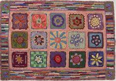 """Josephine's Garden"" hand hooked rug by Vermont Folk Rugs"