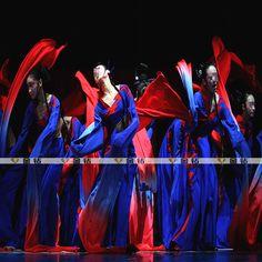 粉墨 舞蹈服 演出服 古典表演服装 舞台服装 长水袖过渐古典金176-淘宝网