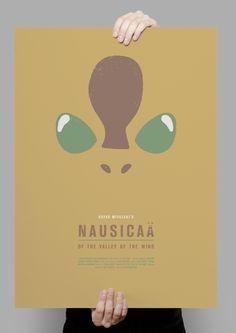 Máster Diseño Gráfico 2012-13. Proyecto personal de Sara Maese incluido en la Entrega Final de Máster: serie de carteles Studio Ghibli-Hayao Miyazaki (1984-2008).