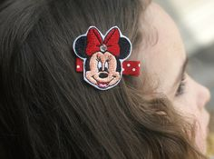 Minnie Mouse Inspired Hair Clip  Meet Miss by CravingCuteness
