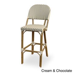 Overstock Paris Indoor/Outdoor Bamboo Finished Bar Chair