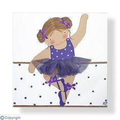 Cuadro infantil personalizado: Niña bailarina (ref. 12034-07)