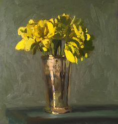 William Nicholson, Floral Paintings, Acrylics, Still Life, Philadelphia, Glass Vase, Gallery, Flowers, Roof Rack