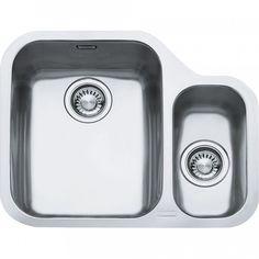 The Franke Ariane Undermount Modern Stainless Steel Sleek Kitchen Sink will be a fantastic, stylish addition to any contemporary kitchen. Undermount Stainless Steel Sink, Stainless Steel Kitchen, Kitchen Sink Taps, Sink Faucets, Sink Strainer, Corner Sink, Bowl Sink, Kitchen Ideas