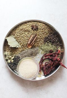 Korma masala powder recipe or kurma masala.This spice powder can be used for vegetable kurma, egg korma or chicken korma curry recipes .Very flavorful and different from the regular garam masala powders. Korma or kurma recipe uses yogurt and or coconut to Garam Masala, Masala Spice, Masala Tea, Korma Curry Recipes, Kurma Recipe, Korma Masala Recipe, Masala Powder Recipe, Homemade Spices, Homemade Seasonings