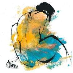Abstract Art Paintings 601019512753193209 - Bleu canard Source by beguilmo Figure Painting, Painting & Drawing, Life Drawing, Body Painting, Figurative Kunst, Human Art, Human Human, Erotic Art, Painting Inspiration