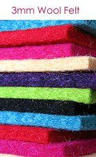 3mm Wool Felt - resource! Felt-o-rama