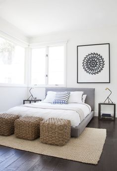 """""""Basically, the higher the bed, the more physical and visual space it's taking up,"""" says Orlando Soria, West Coast creative director of Homepolish. """"A lower bed will make your bedroom appear larger and more open."""" - Redbook.com"""