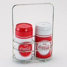 Coca-Cola Salt and Pepper Shakers with Caddy $9.98