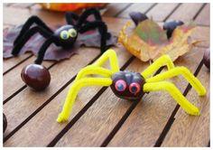 Diy For Kids, Crafts For Kids, Arts And Crafts, Kids Fun, Fall Crafts, Diy Crafts, Conkers, Fall Diy, Halloween Diy
