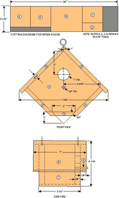 wren house plans with detailed diagrams detailed