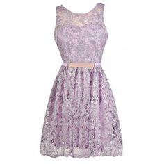 Cute Lavender Dress, Lavender Lace Dress, Lavender Bridesmaid Dress, Purple Lace Dress, Cute Purple Dress, Lavender A-Line Lace Dress, Purple Lace Party Dress
