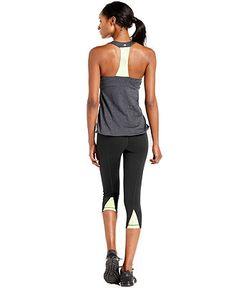 Ideology Top, Racerback Mesh-Back Blouson Tank - Yoga - Women - Macy's
