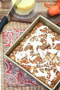 Best Breakfast ever! Carrot Cake Baked Oatmeal Low Calorie, Low Fat, Heart Healthy Recipe