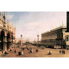 Buyenlarge 'La Piazza' by Canaletto Painting Print