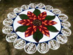 Indian Rangoli Designs, Colorful Rangoli Designs, Rangoli Ideas, Kolam Rangoli, Beautiful Rangoli Designs, Kolam Designs, Rangoli Colours, New Year 2020, Collections