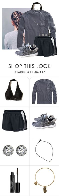 """""""She's a bad thing~Caroline"""" by amaya-leigh ❤ liked on Polyvore featuring Hollister Co., Vineyard Vines, NIKE, adidas, Color My Life, Edward Bess and Alex and Ani"""