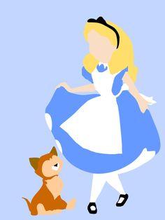 Items similar to Alice in Wonderland Minimalist Poster on Etsy Patchwork Disney, Disney Quilt, Alice In Wonderland Paintings, Alice In Wonderland 1951, Pop Art Drawing, Cool Drawings, Silhouettes Disney, Disney Doodles, Art Disney