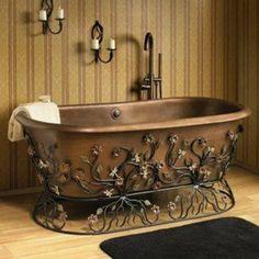 Bronze/Iron Bathtub.