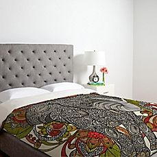image of DENY Designs Valentina Ramos Bo The Elephant Duvet Cover in Red