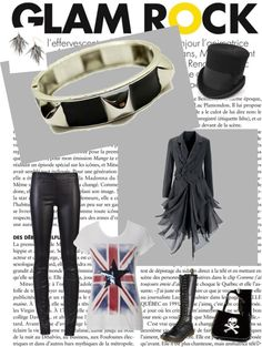 "This look was inspired by the UK punk rock scene of the Think of it as ""upscale Sid Vicious. Wardrobe Planner, Capsule Wardrobe, Get Dressed, Punk Rock, Style Guides, Style Me, Shoe Bag, Polyvore"