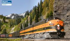 Computer desktop wallpaper from the June 2018 Model Railroader Great Northern Railroad, Railway Posters, Rolling Stock, Model Train Layouts, Model Railroader, Train Tracks, Close Up Photos, Models, Ho Scale