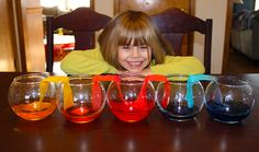 Water Transfer Experiment by wemadethat #Kids #DIY #Science