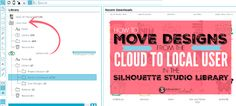 How to move designs from the Silhouette Cloud to local user folder