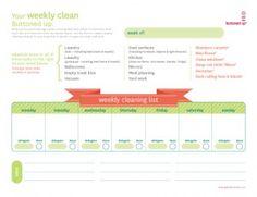weeklycleaninglist