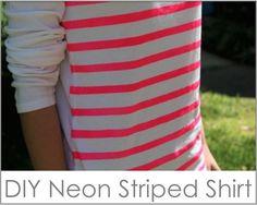 DIY striped shirt..no sew