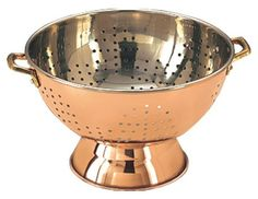 Decor 9 in. Copper Footed Colander