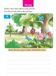Picture Composition Worksheets For Grade 1 Descriptive Writing Activities, Creative Writing Worksheets, English Creative Writing, Worksheets For Class 1, First Grade Reading Comprehension, Picture Comprehension, English Worksheets For Kids, 2nd Grade Worksheets, English Writing Skills