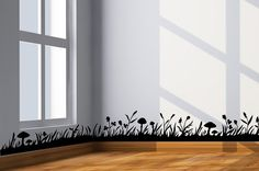 Grass border wall decal  wall border by CherryWalls on Etsy, $26.00