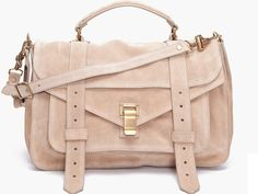 perfect bag for spring rose suede proenza Schouler