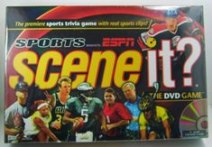 Great for rainy/snowy days like today.Scene It? Sports Edition ESPN (DVD Video Game) New in Box, Sealed Sports Trivia Games, Hd Video, Video Game, Sports Clips, Traditional Games, Espn, Nhl, Board Games, Scene