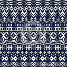 Knitted seamless pattern in Fair Isle style. EPS available