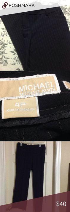 Michael Kors Gramercy fit pants EUC black pin strip Michael Kors Pants