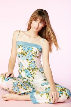 88910aa5517 Blue Hibiscus Stretch Lace Trim Cami Pant Set 1109-S-2714 Стрейч Кружева