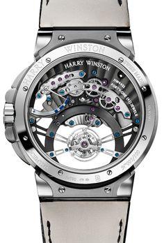 #Montre : Harry Winston Ocean #Tourbillon Jumping Hour Caseback - #watch