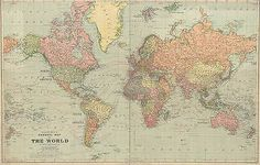 vintage world map poster - Google Search