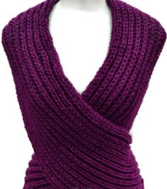 Shawl Cross Vest  Capelet Neck Warmer Stole Multifuncional PDF Instant Download  Knitting Pattern Transforms easily