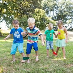 Maybe something for the rooftop playground - races with Dads :) - Fiona x Three-legged race Fun Activities For Kids, Fun Games, Games For Kids, Party Games, Camping Games Kids, Field Day Games, Summer Camp Games, Family Reunion Games, Sports Day