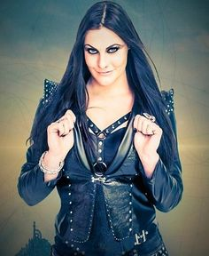 Fille Heavy Metal, Heavy Metal Girl, Rock N Roll, Women Of Rock, Gothic Metal, Goth Women, Female Singers, Rock Music, Girl Power